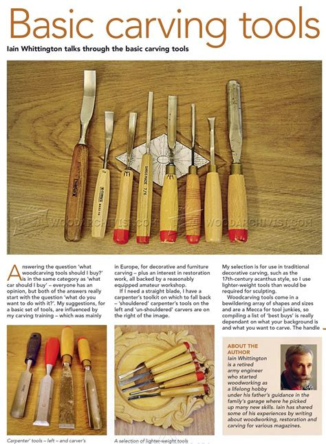 basic woodworking tools basic carving tools woodarchivist