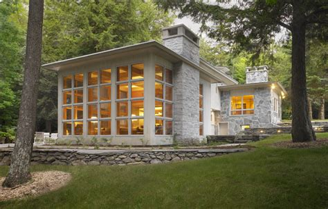 restored american international style home contemporary
