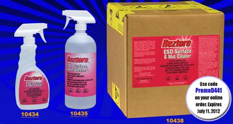 Esd Mat Cleaner by Promod441 20 Reztore 174 Antistatic Surface Mat Cleaner