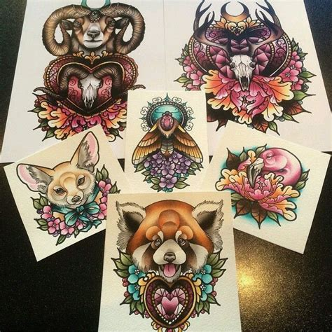 neo traditional animal tattoo 3d1f0740853706e86dee701169afe310 traditional tattoo flash