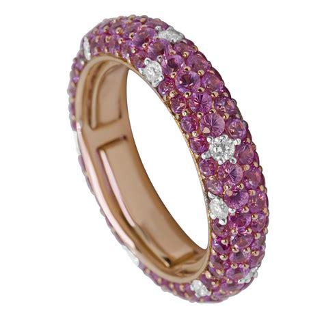 anello pave anello pav 233 oro co in oro rosa con diamanti mis 9 oro