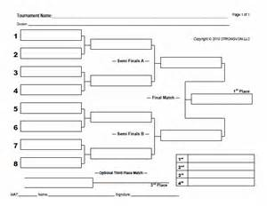 Knockout Draw Sheet Template by Blank Bracket Sheets Strongvon Tournament Management System
