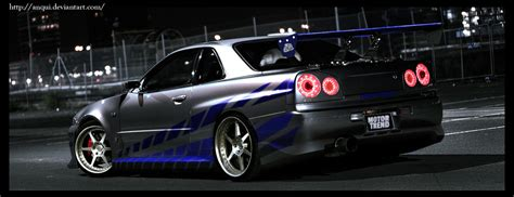2 fast 2 furious car wallpaper brian skyline 2fast2furious by anqui on deviantart