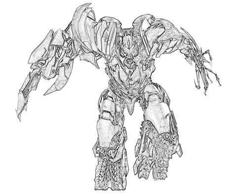 transformers megatron coloring page free coloring pages of megatron