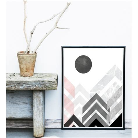 esszimmer gerahmte kunst cult living geometric graphic abstract framed print