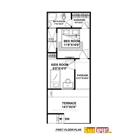 home design 15 30 house plan for 15 feet by 50 feet plot plot size 83
