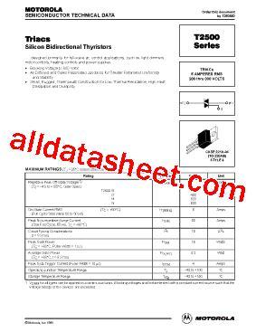 transistor e13009 datasheet t2500 fiche technique pdf motorola inc