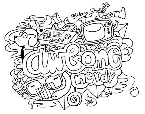 free doodle doodle for adults coloring pages