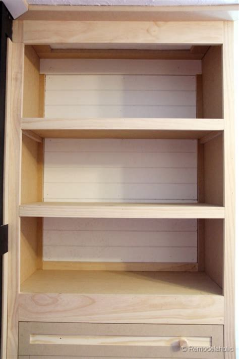 Built In Wooden Shelves Closet Remodelaholic Built In Closet Hack