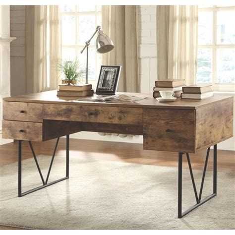 industrial style home office desk co furniture desks home office industrial style desk
