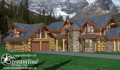eagles nest log home plans 3813sqft streamline design