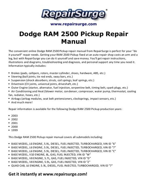 car repair manuals online free 1999 dodge ram 1500 club free book repair manuals service manual 1999 dodge ram 2500 club workshop manual download free service manual 1999