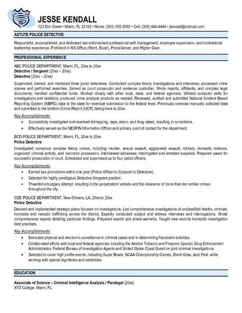 Resume To Become A Police Officer Free Police Officer Resume Templates Http Www