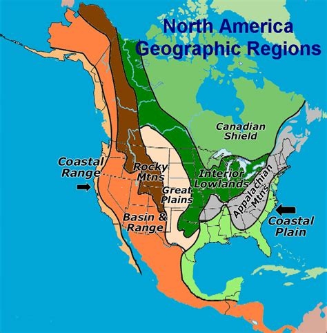 america map geographic regions blank map of geographic regions of america