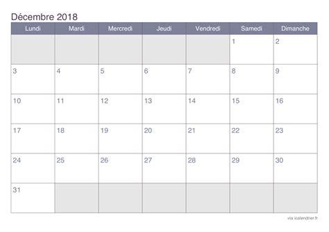 Calendrier Mondial 2018 Calendrier D 233 Cembre 2018 224 Imprimer Icalendrier