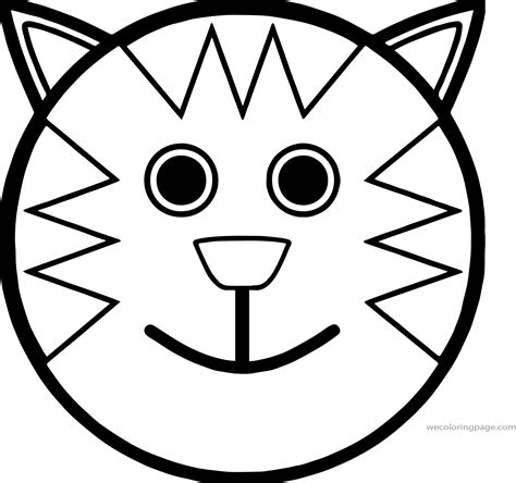 cartoon smiley face cat coloring page wecoloringpage