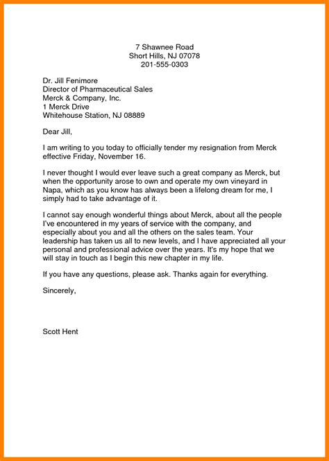 10 how to write a letter of resignation sle