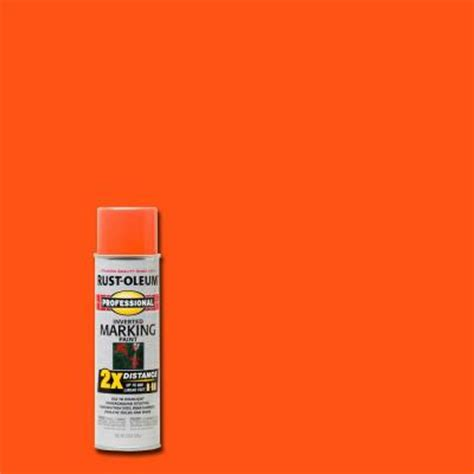 rust oleum professional 15 oz 2x fluorescent orange marking spray paint 6 pack 266579 the