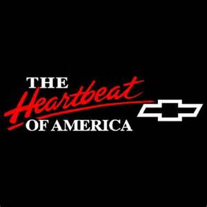6 quot x 22 quot 2 color heartbeat of america chevy vinyl decal