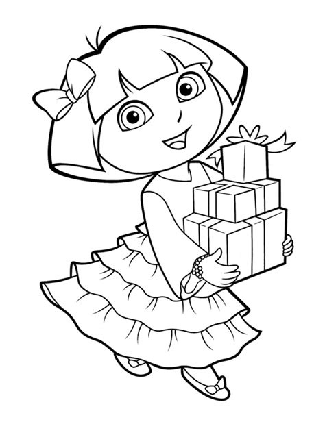 25 Wonderful Dora The Explorer Coloring Pages The Explorer Coloring Pages
