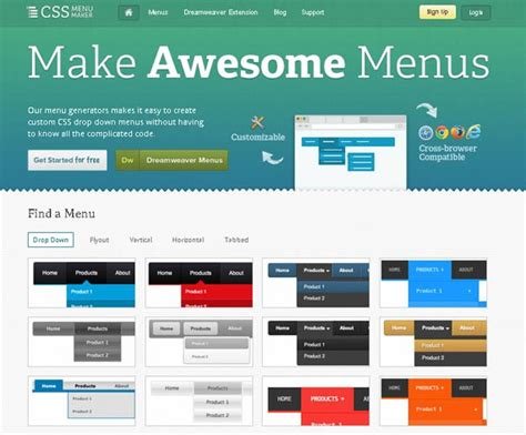 css layout with menu 17 best css tools to speed up your coding code geekz