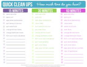 cleaning checklist printable quick clean ups checklist free printable clean mama