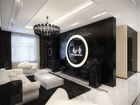 modern baroque living room the uniqueness of a black and white modern baroque apartment