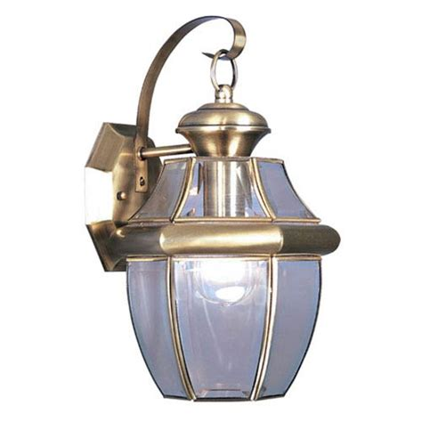 Brass Outdoor Lighting Fixtures Monterey Antique Brass One Light Outdoor Fixture Livex Lighting Wall Mounted Outdoor Out