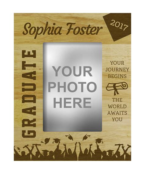 personalized graduation gift engraved wood picture photo