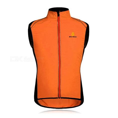windproof cycling vest wolfbike bc230 reflective breathable windproof cycling