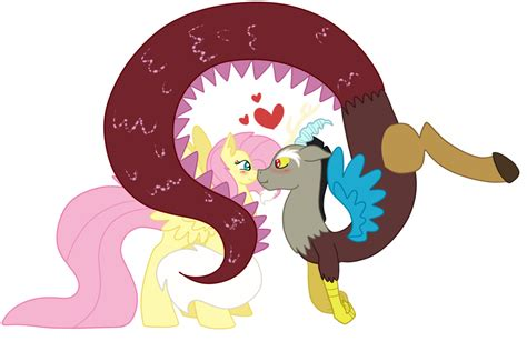 discord group mlp fluttershy and discord by temm1e on deviantart