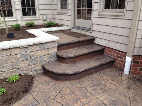 concrete patio steps g m concrete sted decorative