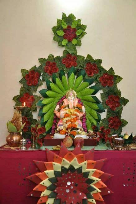 Ganpati Decoration At Home Ganpati Decoration Ideas At Home Decoration For Pooja