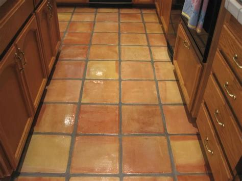 Saltillo Tile Saltillo Tile W High Gloss Finish Galley Kitchen