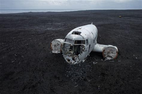 Hss Raglan plane wreck lies on black sand in iceland 40 years