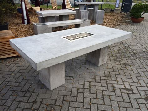beton feuerstelle feuertisch 220x100 cm betontisch feuerstelle betonm 246 bel