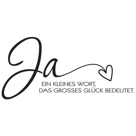 Ja Hochzeit by Stempel Ja Ein Kleines Wort Das Gro 223 Es Gl 252 Ck Bedeutet