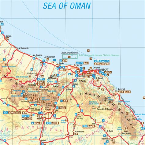 map of for tourists oman tourist map oman tourist map