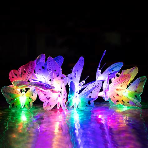 12x New Led Solar Butterfly Colorful String Fairy Lights Colorful String Lights