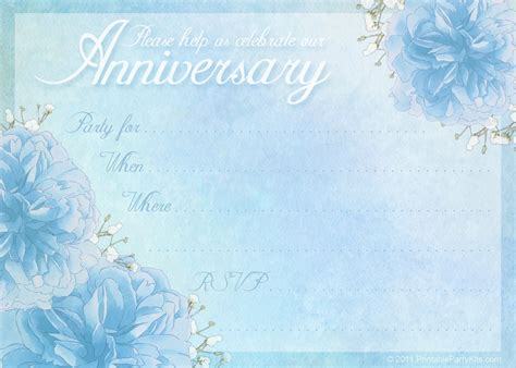 anniversary invitation template anniversary printable kits