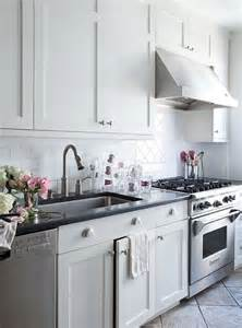 White Kitchen Cabinets With Black Hardware by Kitchens White Shaker Kitchen Cabinets Brushed Nickel