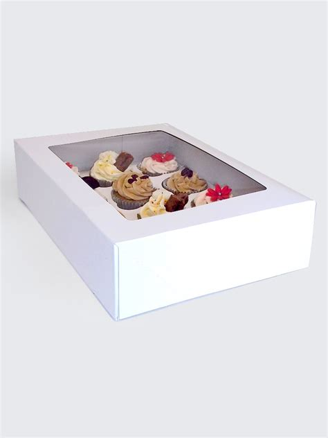 cupcake window boxes cupcake boxes with window and insert