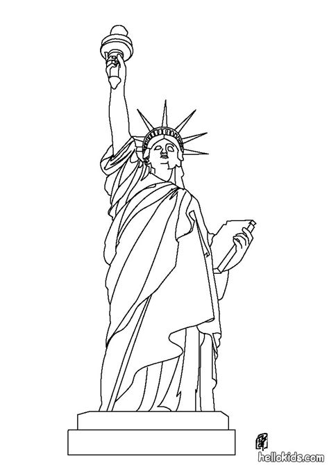 statue of liberty color statue of liberty coloring pages hellokids