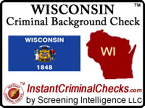 Sc Criminal Record Check Wisconsin Criminal Background Checks For Pre Employment