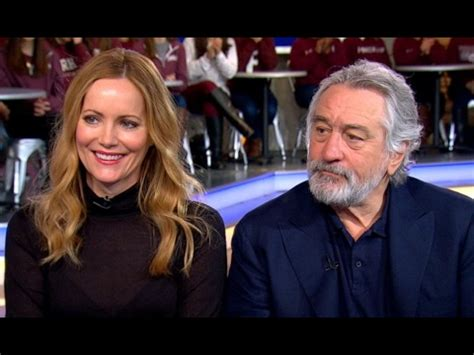 leslie mann, robert de niro interview on 'the comedian