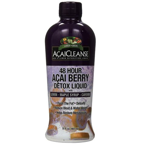 48 Hour Detox by Garden Greens Acaicleanse 48 Hour Detox Acai Berry 32