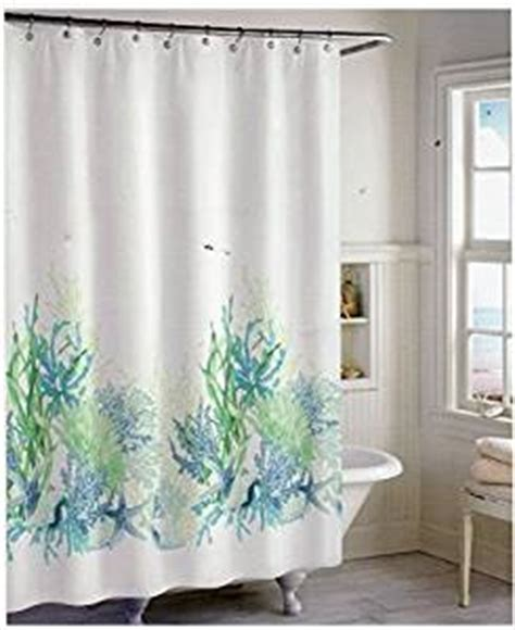 coastal collection shower curtain com coastal collection marine garden fabric shower