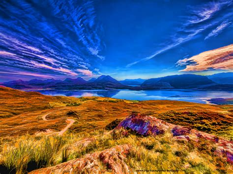 desktop wallpaper 1600x1200 loch torridon and mountains beautiful desktop wallpaper