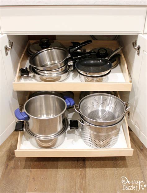 Ready Made Kitchen Drawers Install Pre Made Kitchen Slide Out Shelves With A