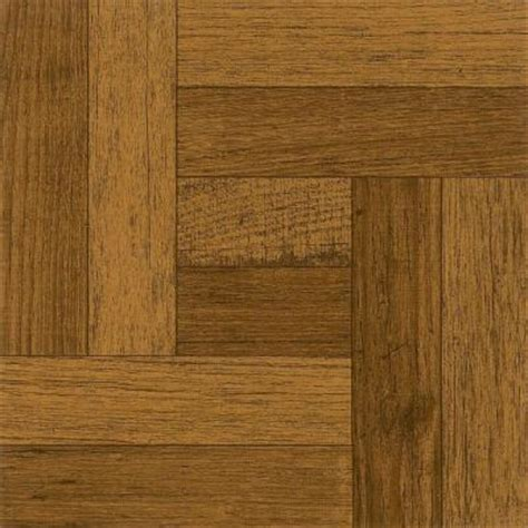 Peel And Stick Flooring Home Depot by Armstrong 12 In X 12 In Oak Parquet Antique Brown Peel